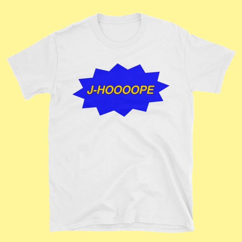 BTS J-Hope Jung Hoseok Tee White Blue Yellow - Bangtan Tumblr Aesthetic  Clothing Retro Streetwear T-Shirt Meme K-Pop Merch Korean Fashion cf3f471648ce