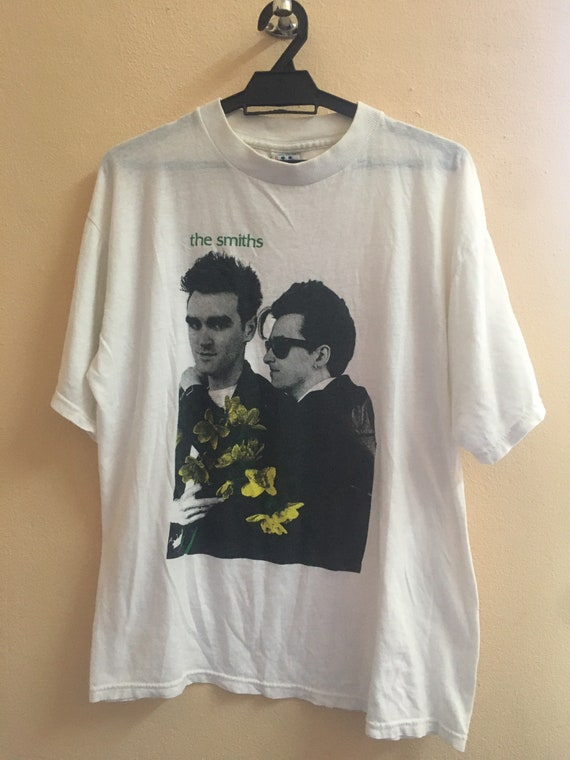 VINTAGE THE SMITHS band tee suede manic street pre