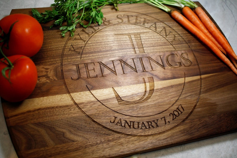 Personalized Cutting Board  Wedding Gift  Engagement  Gifts image 0