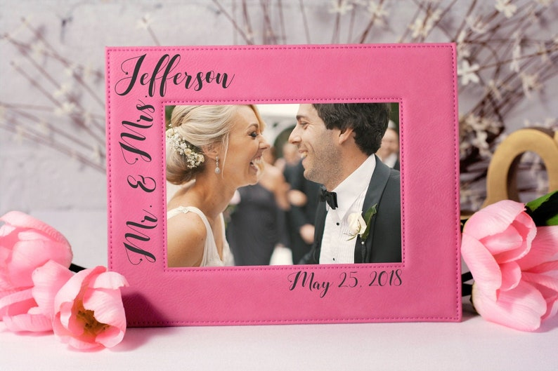 Wedding Photo Frame Wedding Gift Gifts for the Couple Mr and Mrs Gift Wedding Picture Gift Custom Wedding Photo Custom Picture Frame