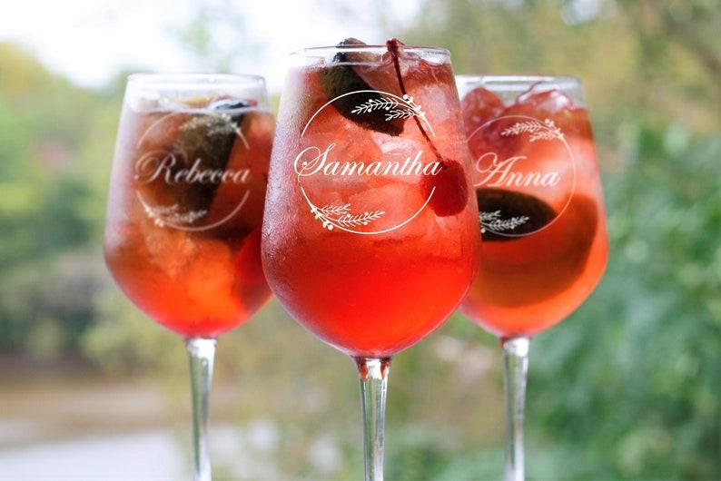 Custom Wine Glass Personalized Wine Glasses Monogram Wine image 0