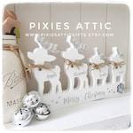 Family of Christmas Reindeers/ Personalised Reindeers/ Christmas Decor/ Wooden Home Decor/ Family Celebrations/ Celebrations/ Christmas