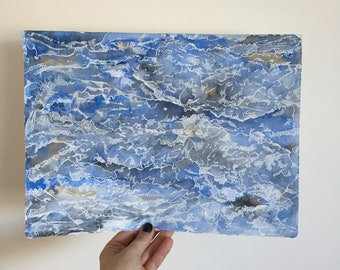 Waves and Water Abstract Painting