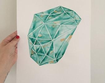 Watercolor Gemstone Series