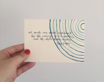 We Make Our World Significant Watercolor Card