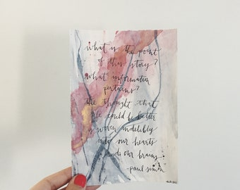 Custom Hand Lettered Art Quote