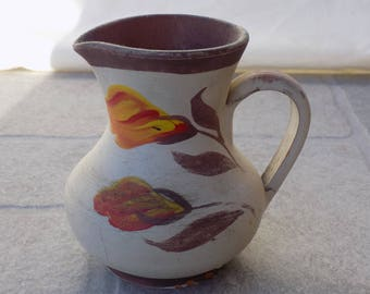 vintage   HandmadeKeramik GREEK  Potterie    Clay Pot with Painting