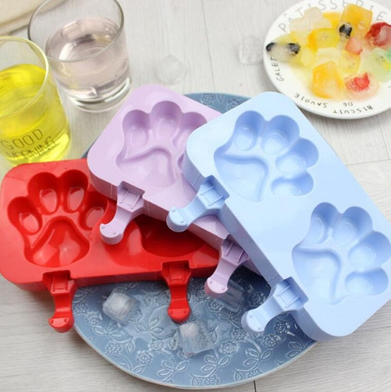 2 Cavity Cakesicle Popsicle Paw Print Mold With 20 Mini Etsy