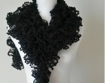 Fancy knitted handmade - hand knitted scarf cowl - scarf scarf wool, wool neck warmer