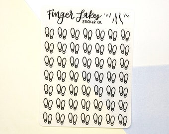 Steps Icon Clear Stickers \\ Planner Journal Glossy Stickers