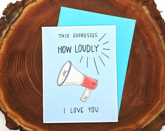 This Expresses How Loudly I Love You || The Office Inspired Valentine's Day Greeting Card || Dwight Love Card Blank Inside
