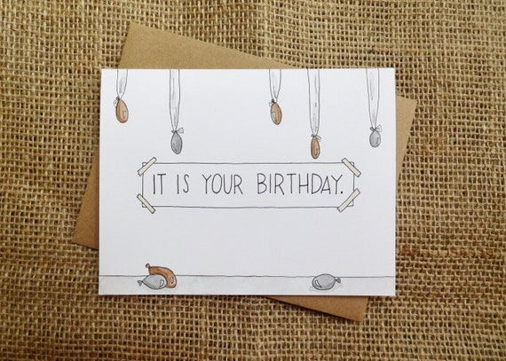 It Is Your Birthday The Office Inspired Birthday Greeting Etsy