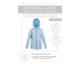 Softshell Jacket - Paper Cutting Pattern - Lillesol and Pelle - Basics No. 49 - Children's Cut