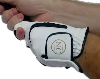 Cabretta Leather Golf Glove, personalised with a gold monogram with upto 3 initials, gift for golfer