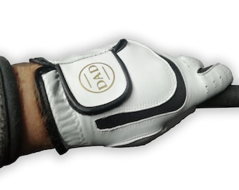 Golf Glove, printed with a gold DAD Monogram for Fathers day or dad's birthday