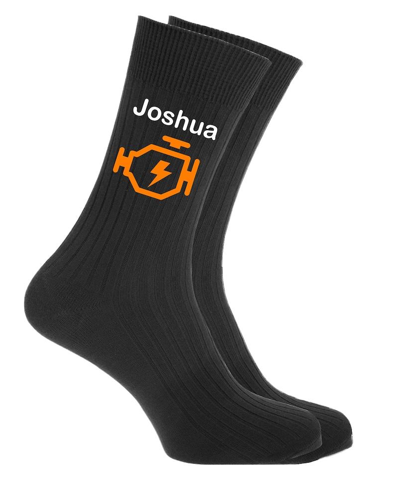 Mechanic Gift Personalised Car Mechanic Socks with Car image 0