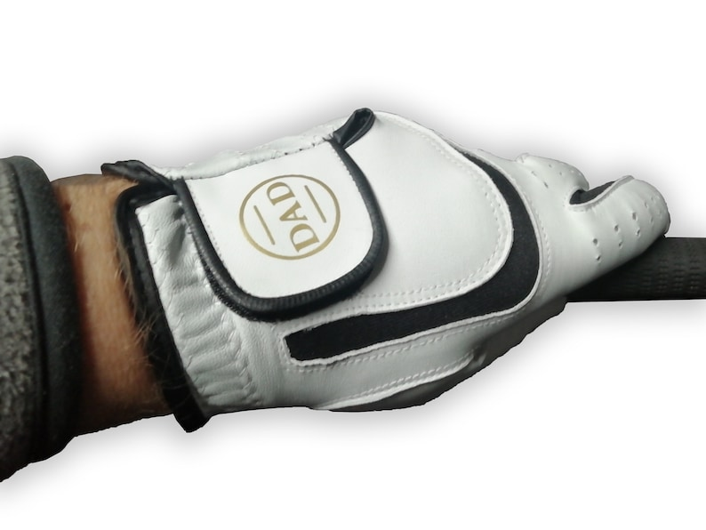 Golf Glove printed with a gold DAD Monogram for Fathers day image 0