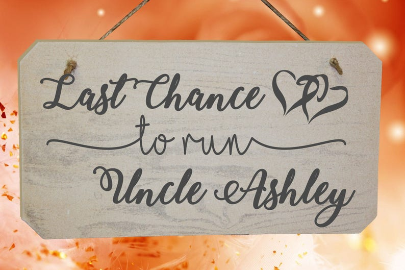 Personalised Last Chance To Run Uncle Wedding Page Boy  image 0