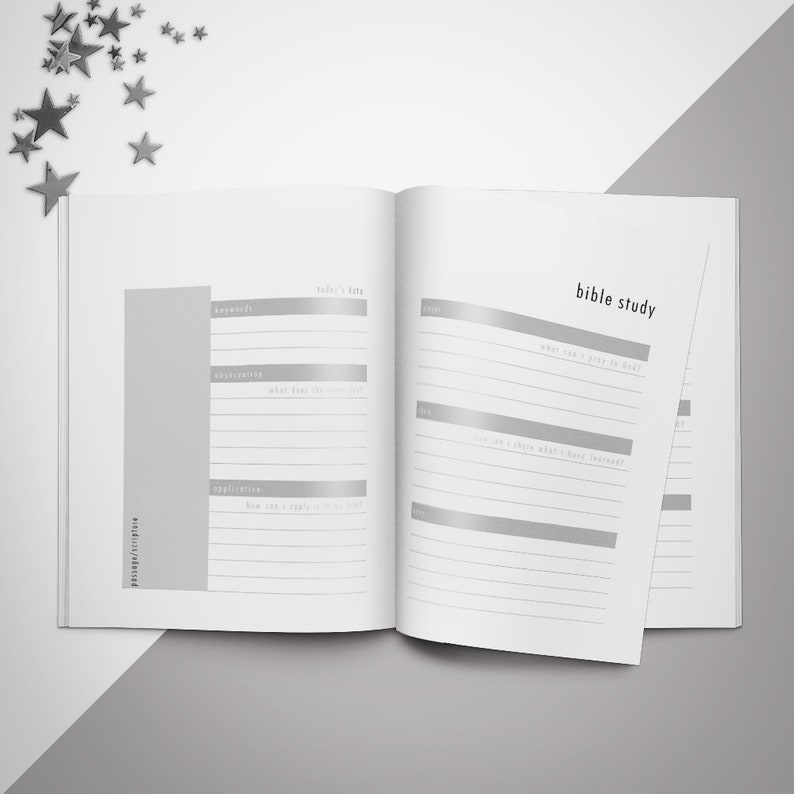 Bible Study Templates Diy Custom Bible Study Diy Bible Study 2-Page Templates Printable Planner Power Point Template