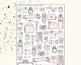 The EPIC Bow Sampler | Planner Stickers | Premium Matte Paper