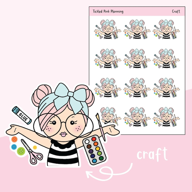 a71c8bf4da426 Craft / Primrose / Planner Stickers / 3 Skin Complexions Available