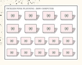 BOW COMPUTER | Planner Stickers | Premium Matte Paper
