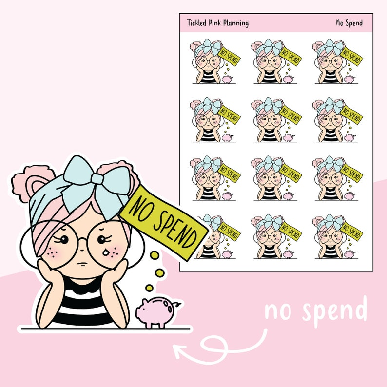 22715703f3fcf No Spend / Primrose / Planner Stickers / 3 Skin Complexions Available