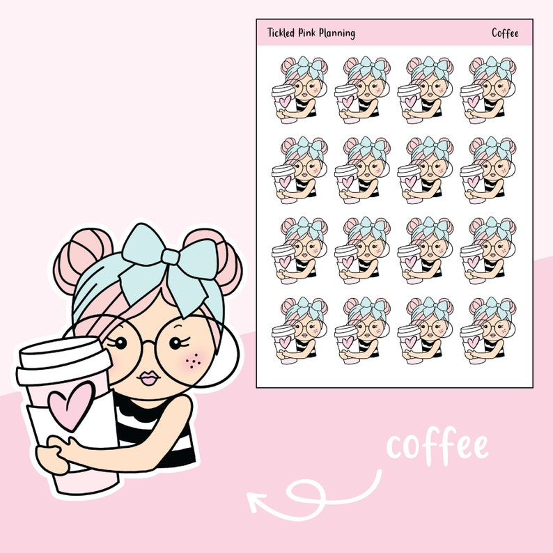 6e324ec505d31 Coffee / Primrose / Planner Stickers / 3 Skin Complexions Available