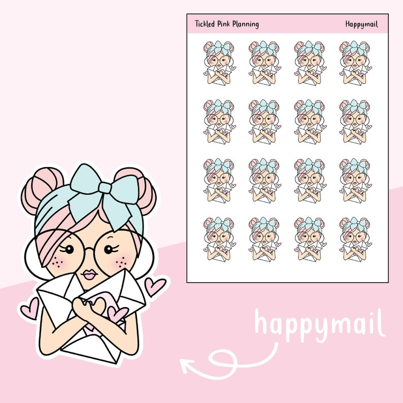 9690a339ad7ac Happymail / Primrose / Planner Stickers / 3 Skin Complexions Available