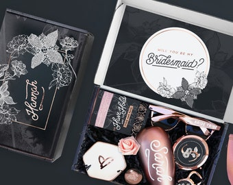 Personalized Maid of Honor Proposal Box Gift Set, Will You Be My Maid Of Honor Gift Box Set for MOH Proposal, Matron of Honor Proposal Gift
