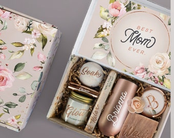 Best Mom Ever Spa Gift Basket with Gifts For Mom From Daughter, Mother of the Bride Spa Gift Set, Bath Goods For Stress Relief and Relaxing