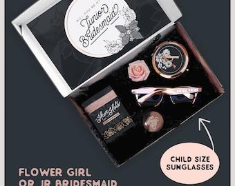 Themed Junior Bridesmaid Proposal Box with Jr Bridesmaid Gift Set, Will You Be My Junior Bridesmaid Gift with Jr Bridesmaid Box Set