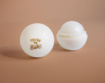 You're the Balm Vanilla Lip Balm, EOS Shape Lip Balm, Gold Foil, Bachelorette Party, Wedding Favors
