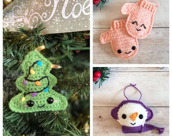 Holiday Ornament Collection Crochet Patterns