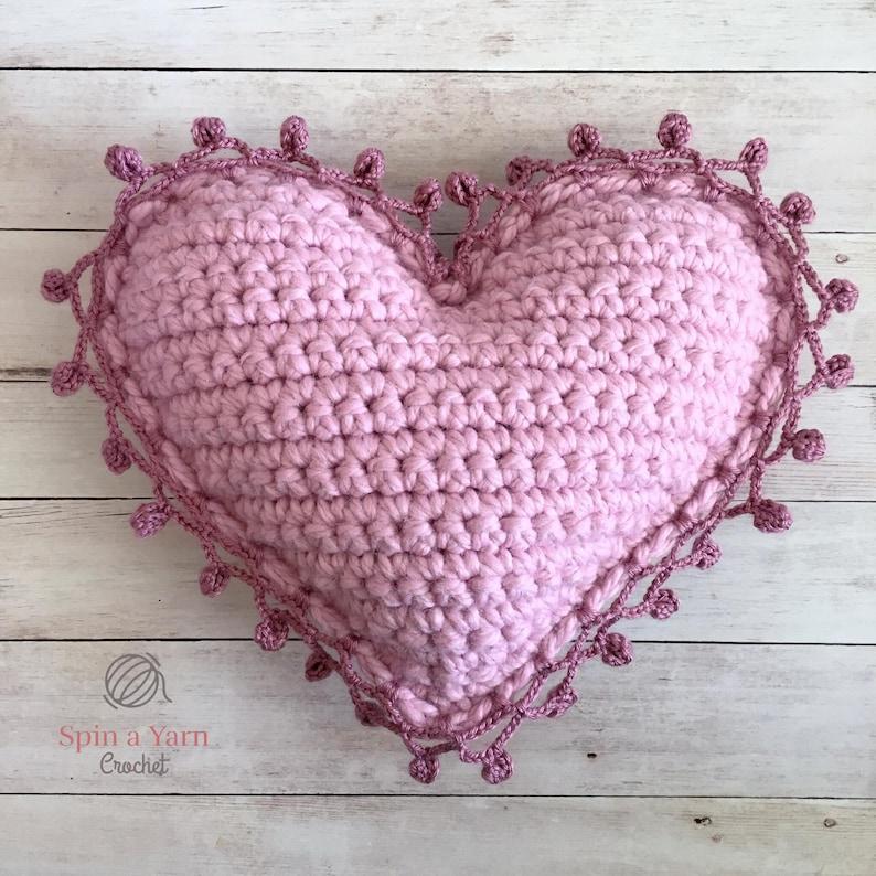 Heart Pillow Crochet Pattern image 0