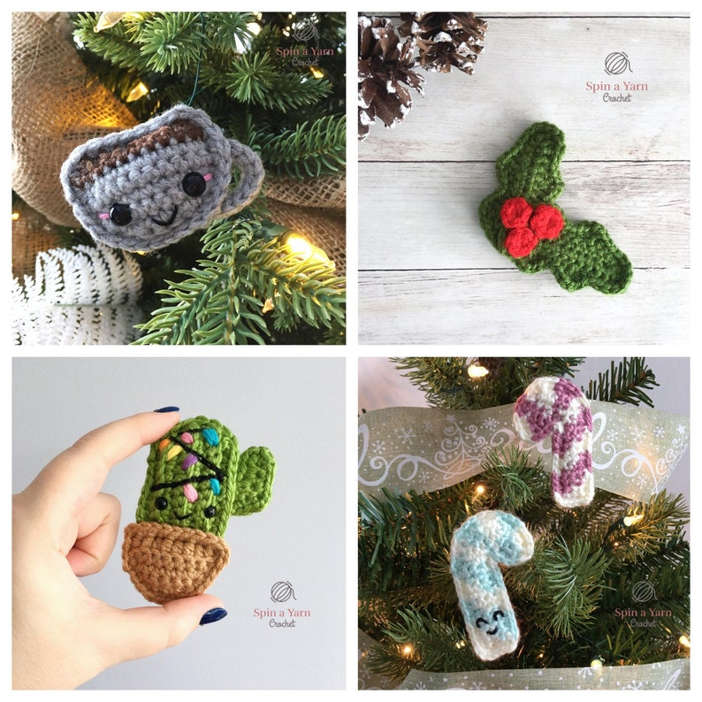 2018 Holiday Ornament Collection Crochet Patterns image 0