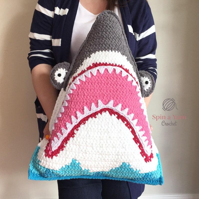 Shark Pillow Crochet Pattern image 0