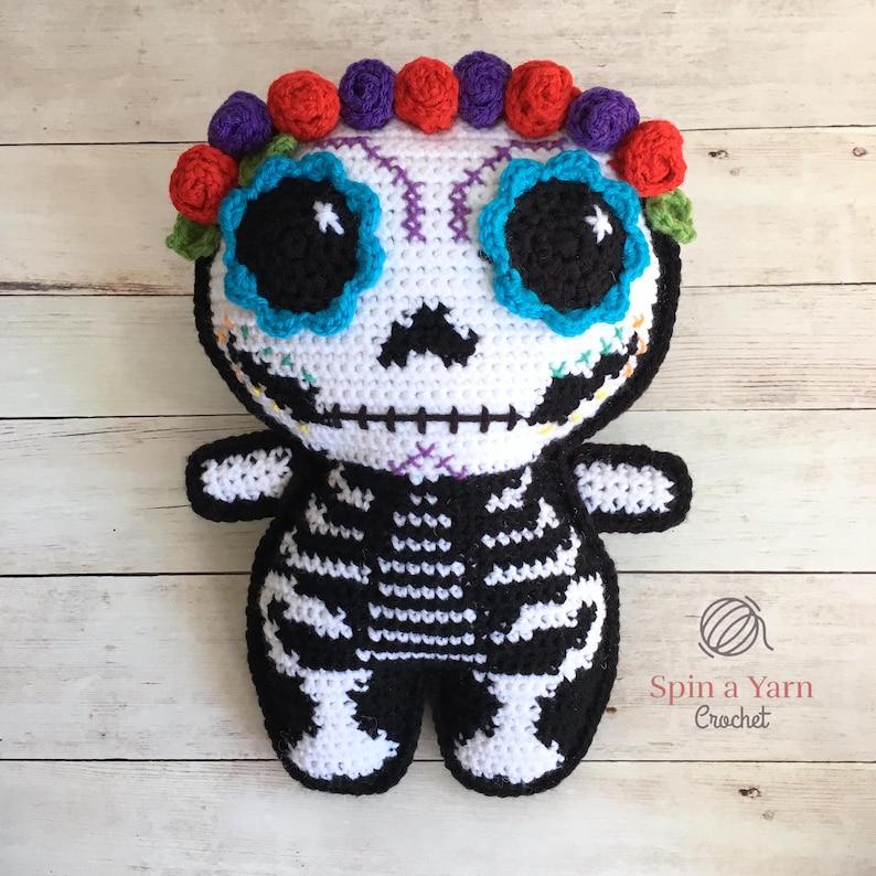 Sugar Skull Amigurumi Crochet Pattern image 0