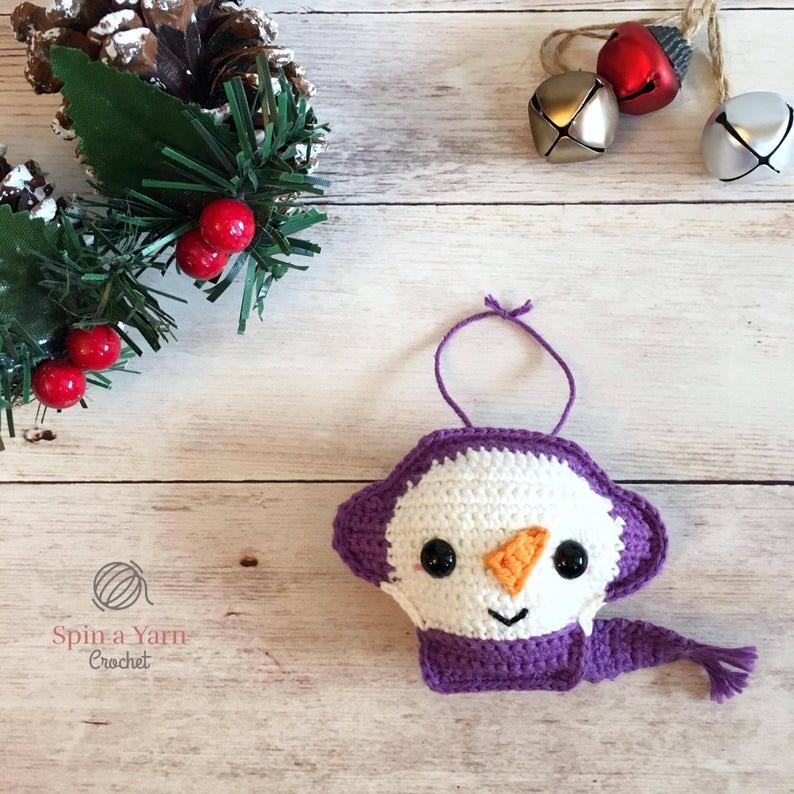Snowman Ornament Crochet Pattern image 0