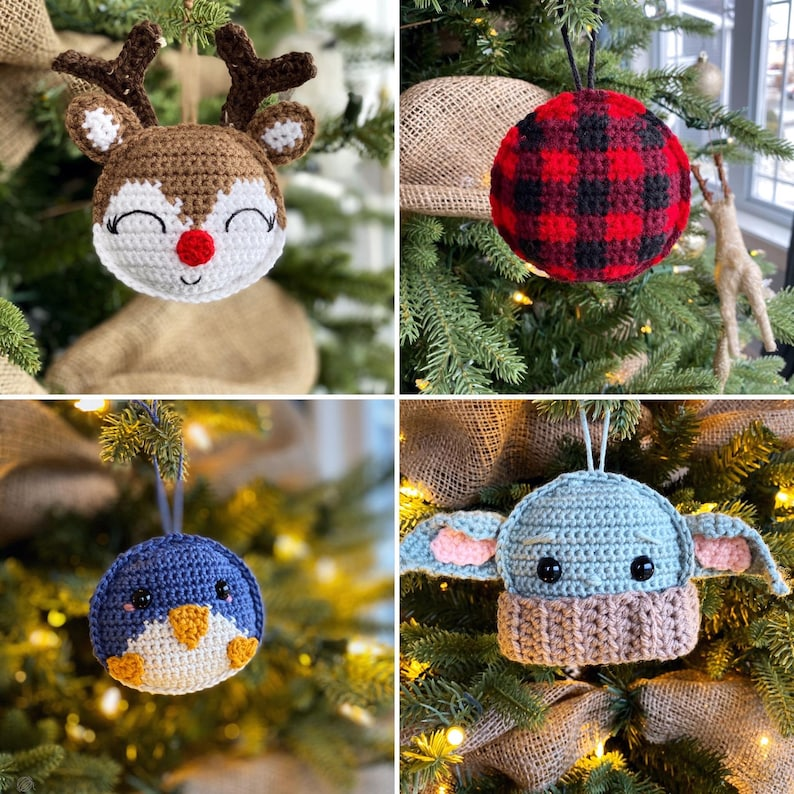 2019 Holiday Ornament Collection Crochet Patterns image 0