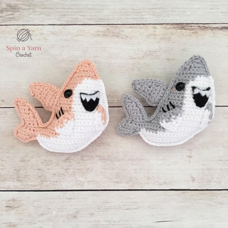 Shark Amigurumi Crochet Pattern image 1