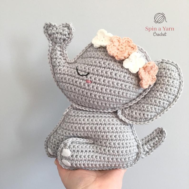 Elephant Amigurumi Crochet Pattern image 0