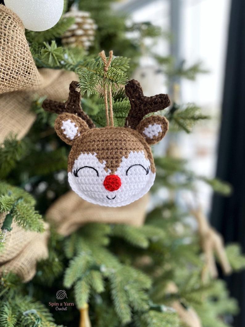 Rudolph Ornament Crochet Pattern image 0