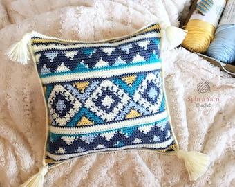 Aztec Throw Pillow Crochet Pattern