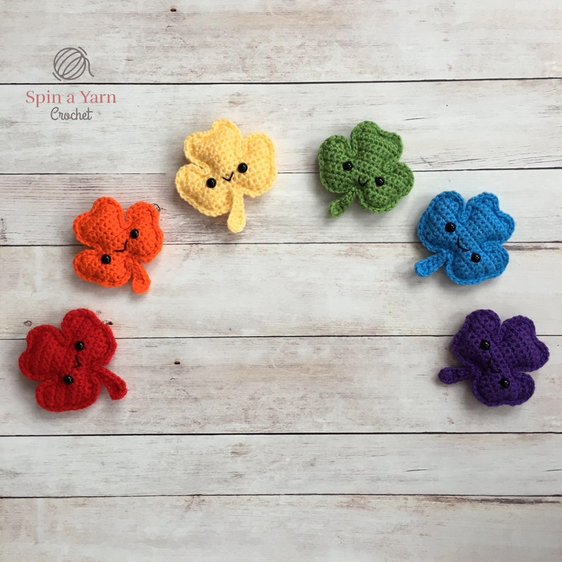 Shamrock Amigurumi Crochet Pattern image 1