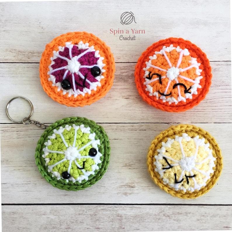 Citrus Fruit Keychain Crochet Pattern image 0