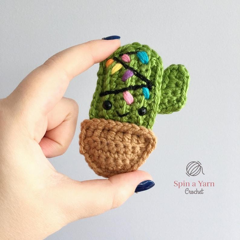 Cactus Ornament Crochet Pattern image 0
