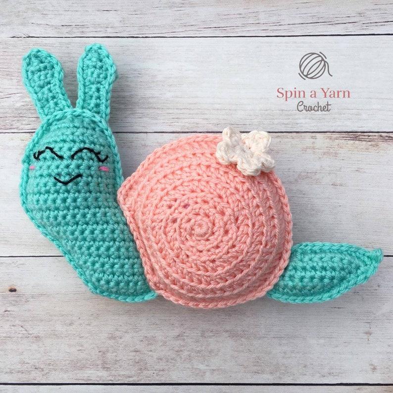 Snail Amigurumi Crochet Pattern image 0