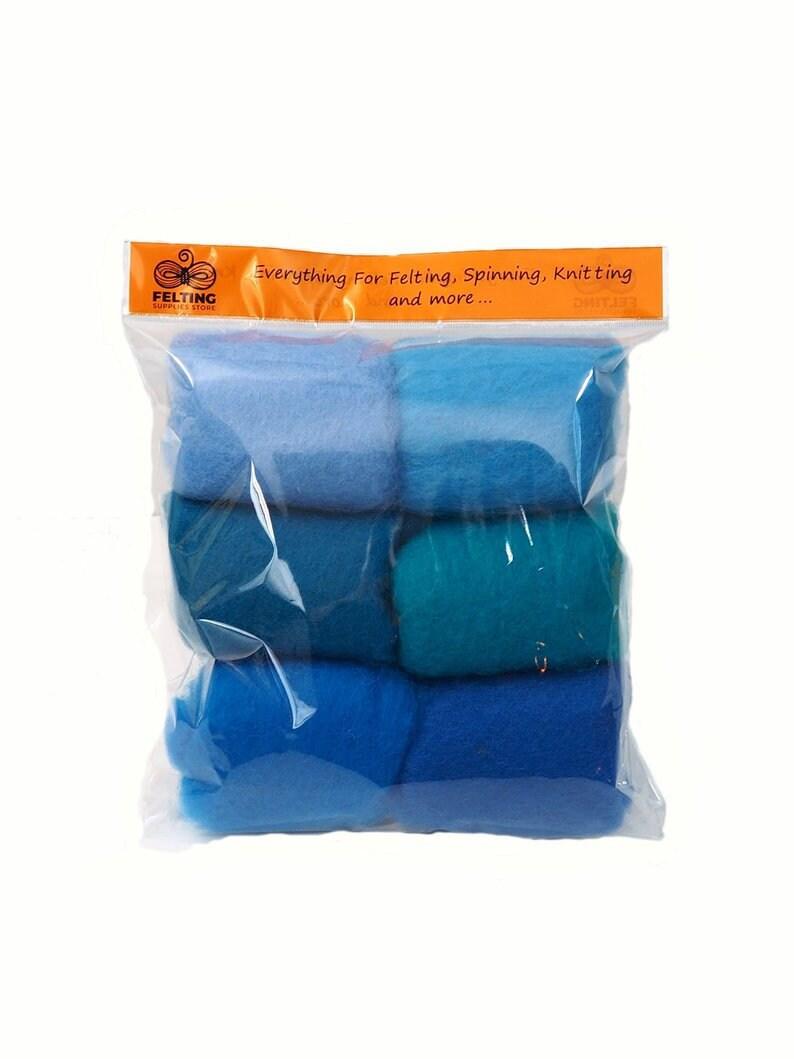 Felting Wool Kit Carded Merino Wool Batt for Needle Felting image 0