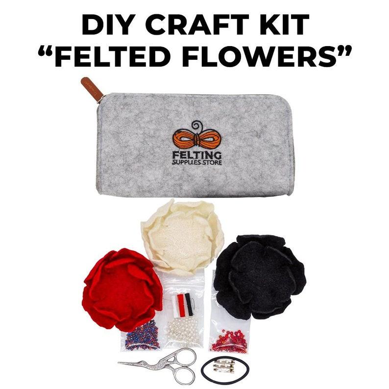 DIY Art Craft Kit FLOWERS  Fashion Craft Gift Kit  Craft image 0